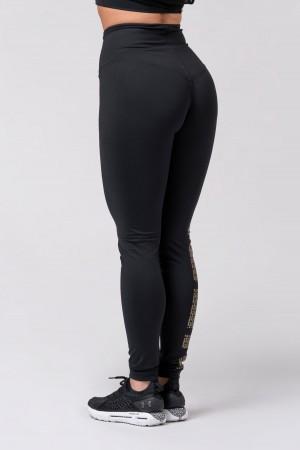 Gold NEBBIA print leggings